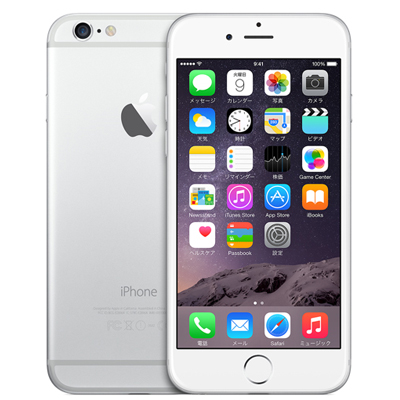 Apple iPhone6 A1586 (NG4H2J/A) 64GB シルバー【国内版 SIMフリー】